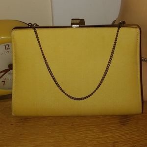 Vintage 1960s Convertible Gold Yellow Evening Clut